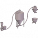 Транспортная система ТС на основе гибкого шнека
